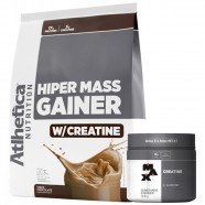 Imagem - Hiper Mass Chocolate 3kg e Creatina 300g Max Titanium cód: MKP001541000955