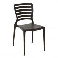 Imagem - Cadeira Sofia Encosto Horizontal Marrom Tramontina 92237109 cód: MKP001556000331