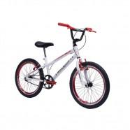 Imagem - Bicicleta aro 20 Infantil Bmx Freestyle Branco com Vermelho cód: MKP001808000003
