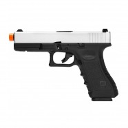 Pistola Airsoft a Gás Gbb Glock Silver Blowback 6mm Army ARMY-R17-S