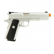 Pistola Airsoft a Gás GBB 1911 MKIV 70 Silver Full Metal Blowback 6mm Army ARMY-R29-S