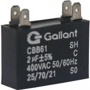 Imagem - Capacitor CBB61 Gallant 2MF +-5% 400 VAC GCP20S00A-PT400 cód: S20011362301002001