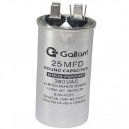 Capacitor CBB65 Gallant 25MF +-5% 380 VAC GCP25S00A-IX380