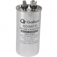Imagem - Capacitor CBB65 Gallant 60MF +-5% 380 VAC GCP60S00A-IX380 cód: S20021360901001001