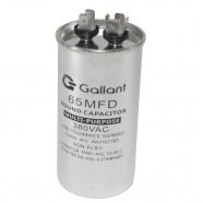 Imagem - Capacitor CBB65 Gallant 65MF +-5% 380 VAC GCP65S00A-IX380 cód: S20021361001001001