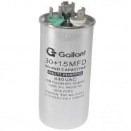 Imagem - Capacitor CBB65 Gallant 30+1,5MF +-5% 440 VAC GCP30D01A-IX440 cód: S20021361201002001