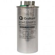 Imagem - Capacitor CBB65 Gallant 40+1,5MF +-5% 440 VAC GCP40D01A-IX440 cód: S20021361501002001