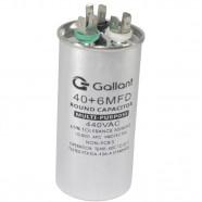 Imagem - Capacitor CBB65 Gallant 40+6MF +-5% 440 VAC GCP40D06A-IX440 cód: S20021361701002001