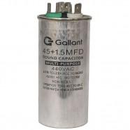 Imagem - Capacitor CBB65 GALLANT 45+1,5MF +-5% 440 VAC GCP45D01A-IX440 cód: S20021361801002001