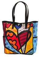 Bolsa Romero Britto Tote V - Tecido - 30cm x 44cm x 16cm - Trevisan Concept