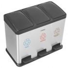 Lixeira Tripla Tramontina com Pedal Retangular 45 Litros Inox 94538/245