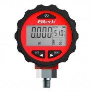 Imagem - Manômetro Digital para Alta Pressão 0 a 800psi a Pilha Alcalina AA Elitech (1,5V) cód: R90010950301002001