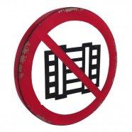 Placa Proibido Filmar- 44cm x 44cm x 3cm - Trevisan Concept