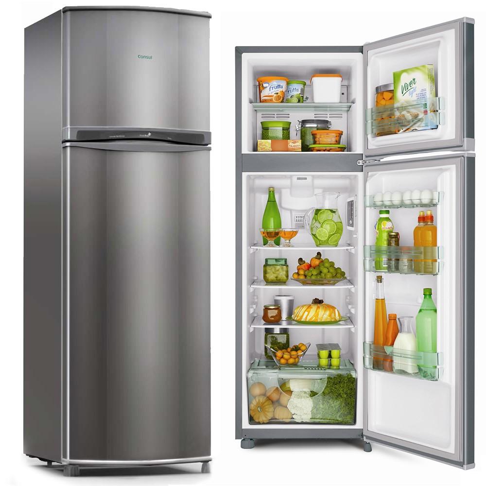 Refrigerador Consul Biplex 330 2 Portas 263 Litros Inox Frost Free