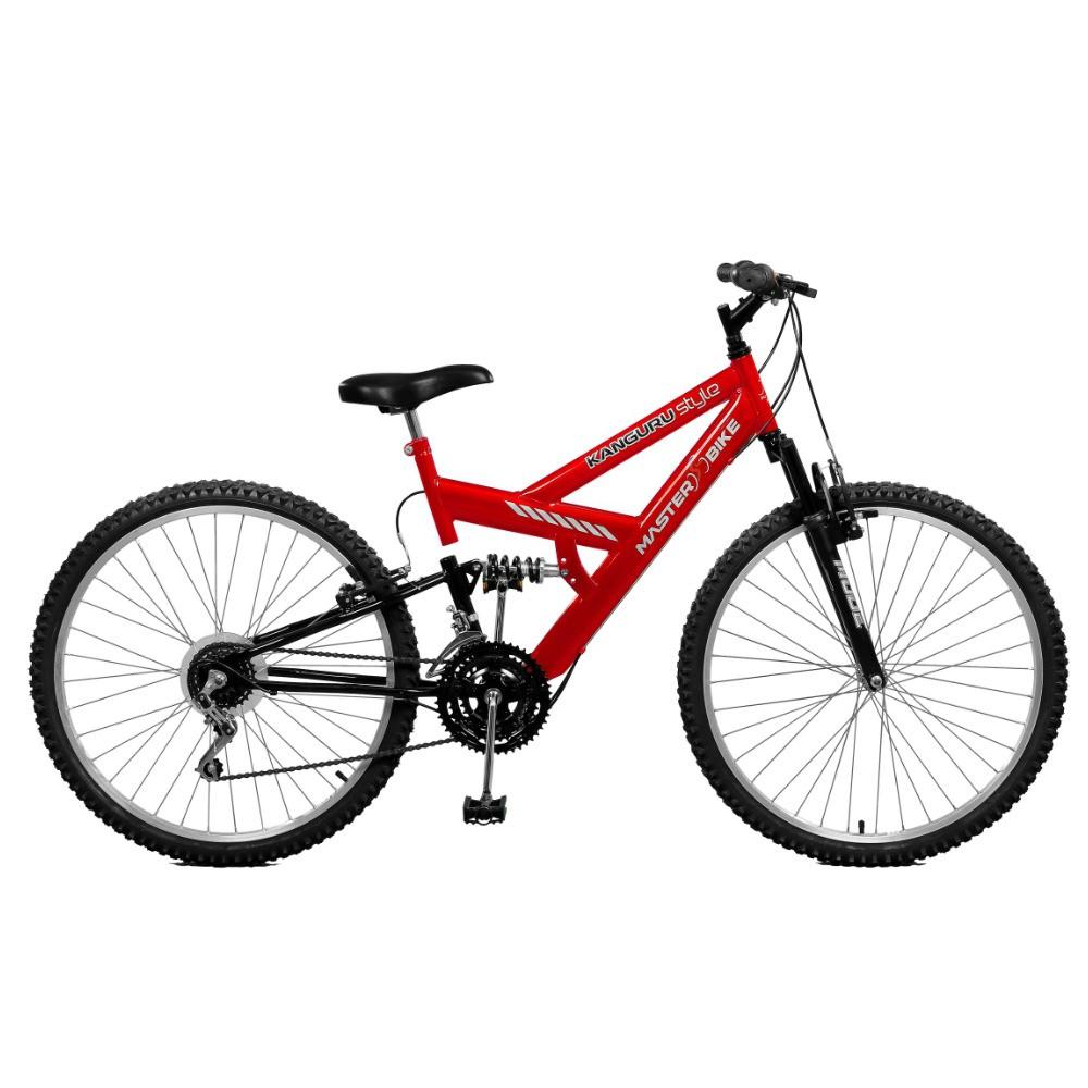 Bicicleta Master Bike Style Aro 26 Full Suspensão 21 Marchas - Preto/vermelho