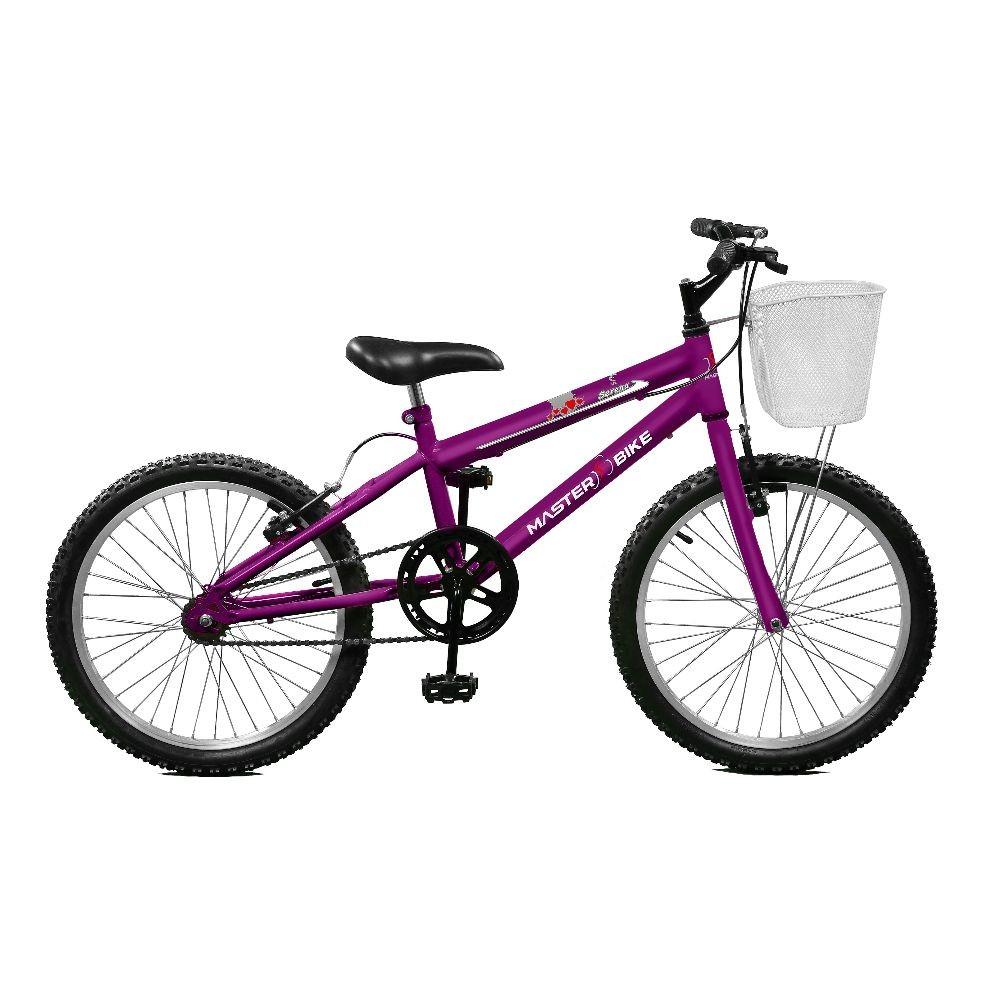 Bicicleta Master Bike Serena Plus Aro 20 Rígida 1 Marcha - Violeta