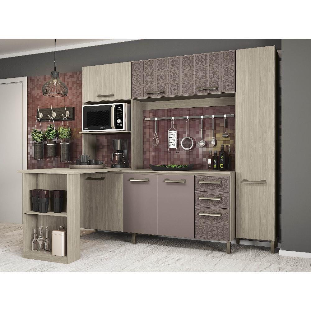 Bancada Para Kit De Cozinha Compacta Am Ndoa De Madeira E781 Am