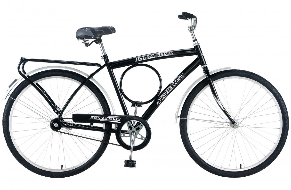 Bicicleta Fischer Barra Super New Cp Aro 26 Rígida 1 Marcha 72 Raios - Preto