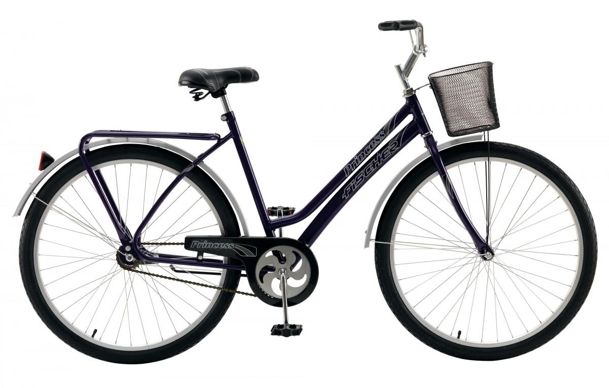 Bicicleta Fischer Princess New Cp Aro 26 Rígida 1 Marcha 72 Raios - Violeta