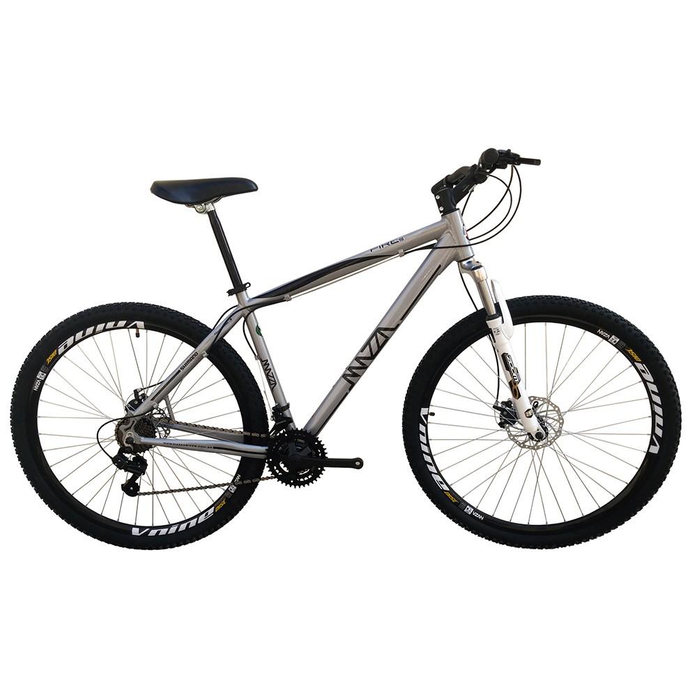 Bicicleta Mazza Fire 112 Disc H T17 Aro 26 Susp. Dianteira 27 Marchas - Cinza