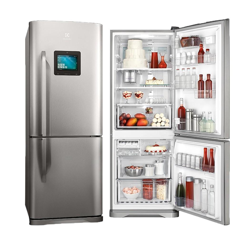 d6196562d Refrigerador Electrolux Bottom Freezer 2 Portas 454 Litros Inox Frost Free  220v