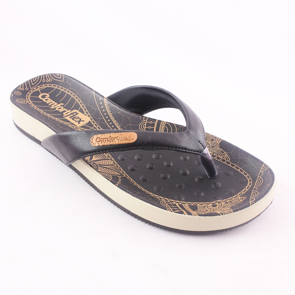 a39bcc0c8 Rasteira sandalia chinelo Comfortflex feminina conforto   Preto ...