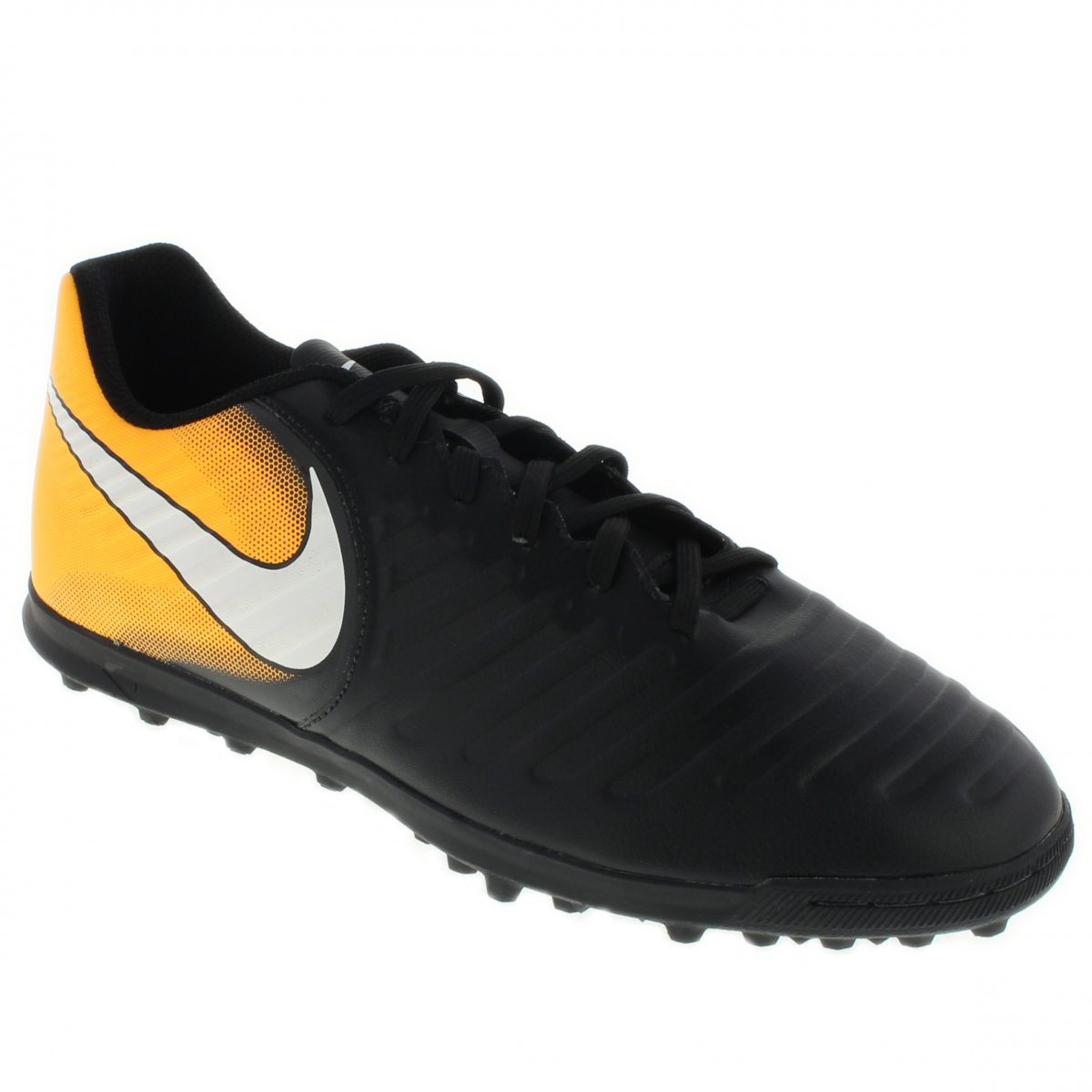 4289e8bb0608c Society Nike Tiempox Rio iv tf | Preto/laranja | Coutope