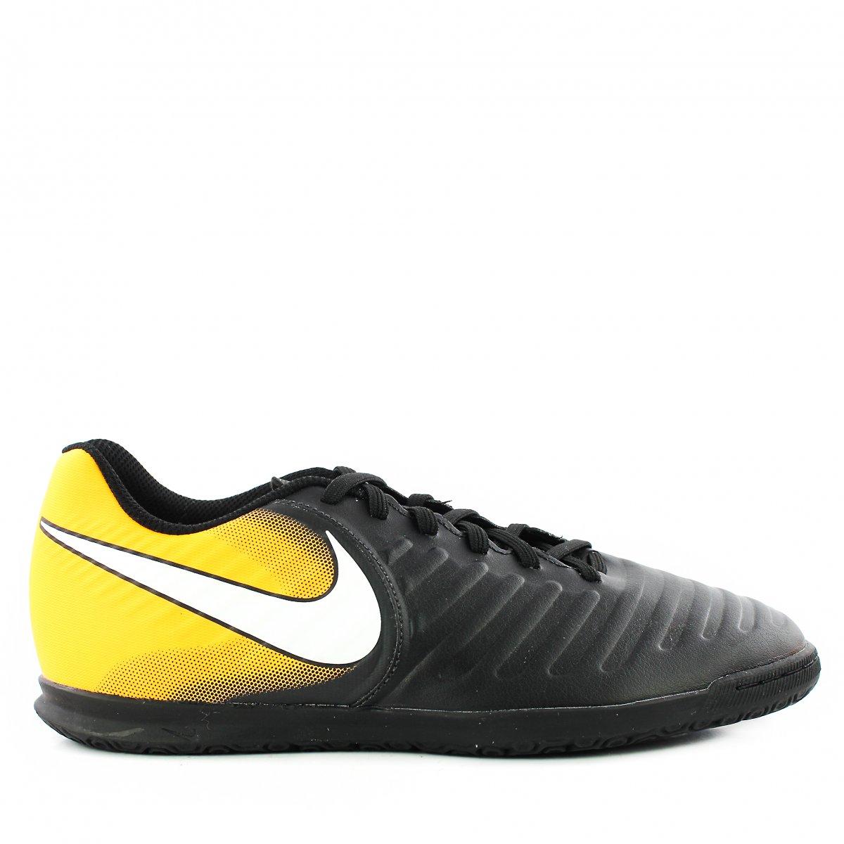 9ec9a4d63 Chuteira Nike Tiempox Rio iv ic | Preto/laranja | Coutope