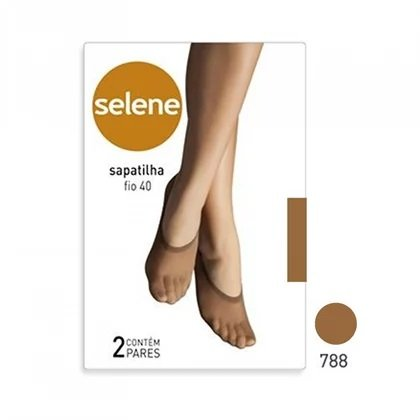 Meia Casual Selene Feminino 9055 Sapatilha Kit 2un
