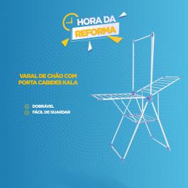 Imagem - Varal de Chão com Porta Cabides (1und) - Kala