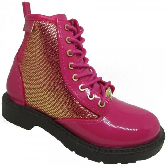 Bota Infantil Barbie Coturno Fashion Feminino