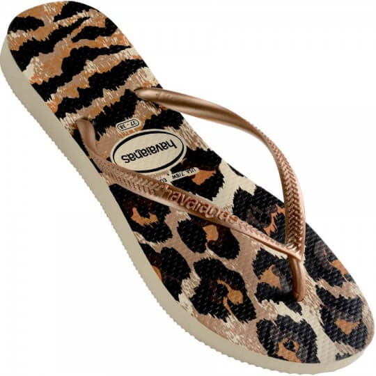 Chinelo Havaianas Slim Animals Onça Feminino