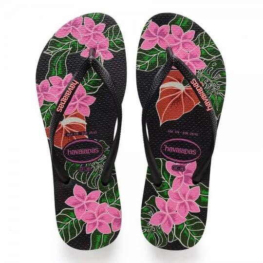 Chinelo Havaianas Slim Floral Feminino