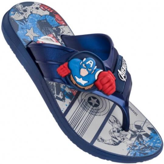 Chinelo Infantil Avengers Super Flop Capitão América Masculino