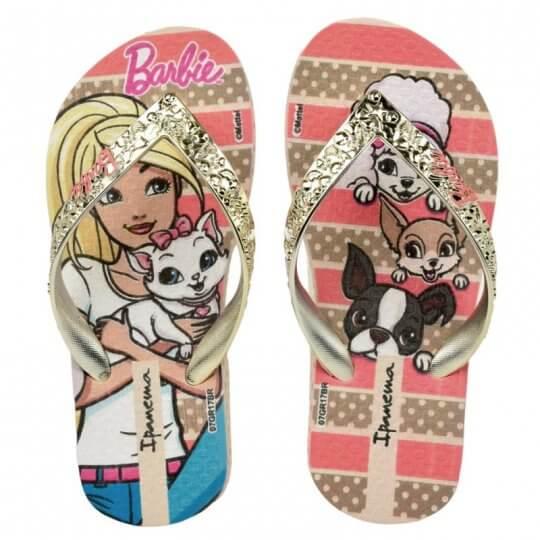 Chinelo Infantil Ipanema Barbie Glamour Feminino