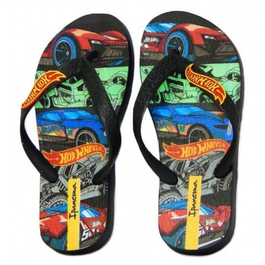 Chinelo Infantil Ipanema Hot Wheels Tyre Masculino