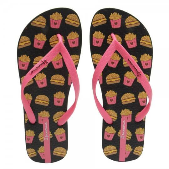 Chinelo Lovely Fast Food II Feminino