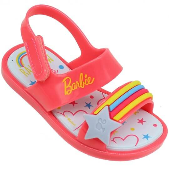 Sandália Baby Barbie Beauty Rainbow Feminina