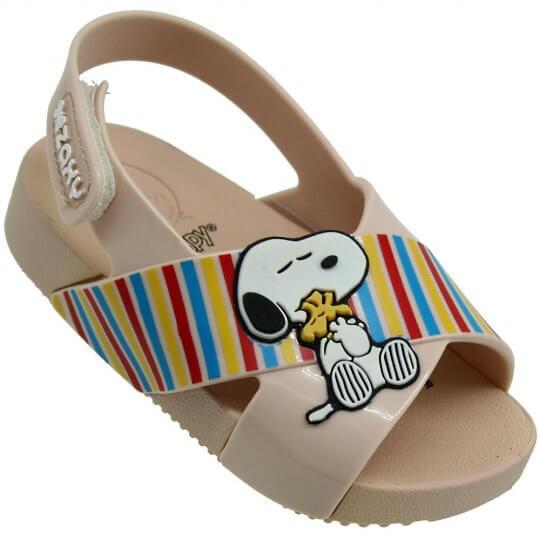 Sandália Baby Zaxynina Snoopy Feminina