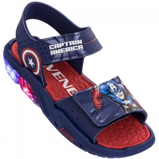 Sandália Infantil Avengers Capitão América Led Masculina