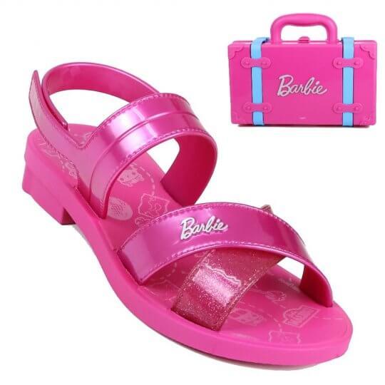Sandália Infantil Barbie Volta Ao Mundo Feminina + brinde