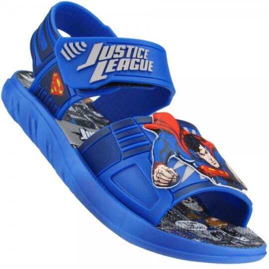 Sandália Infantil Liga da Justiça Super Homem