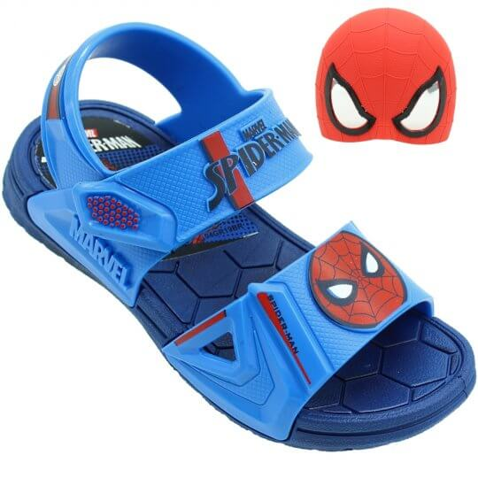 Sandália Infantil Marvel Hero Glasses Masculina + Brinde