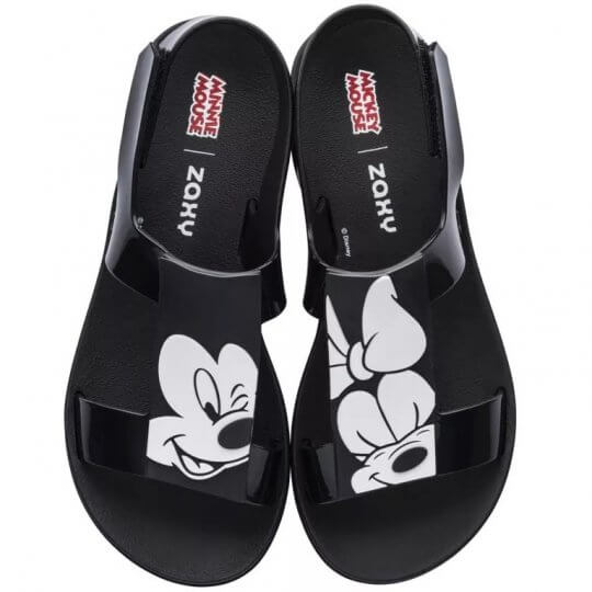 Sandália Zaxy Playful Mickey E Minnie Feminina