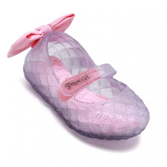 Sapatilha Baby Disney Princesa Glitter Laço Feminina
