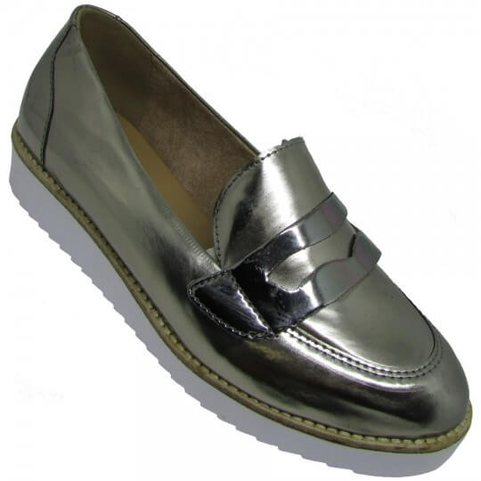 Sapato Marina Carvalho Oxford Metalizado Feminino