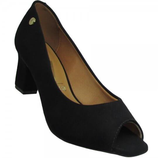 b3f1387f0 Sapato Peep Toe Vizzano Camurça Flex Feminino - Decker Online!