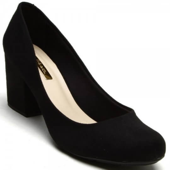 Sapato Scarpin Moleca Nobuck Feminino