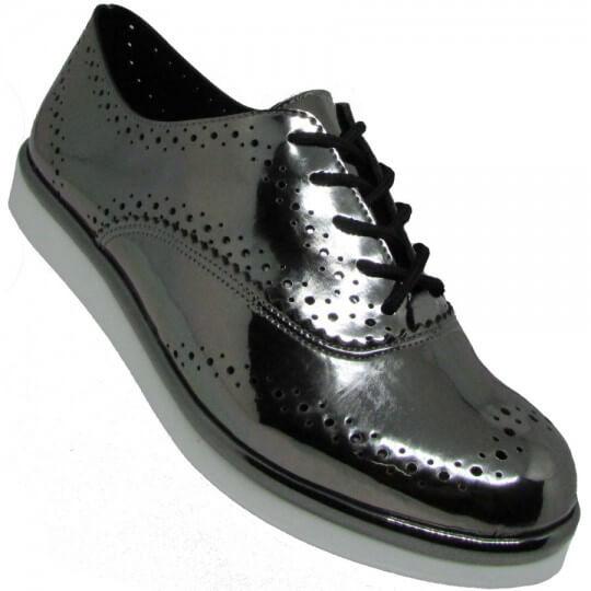 Sapato Via Scarpa Oxford Feminino
