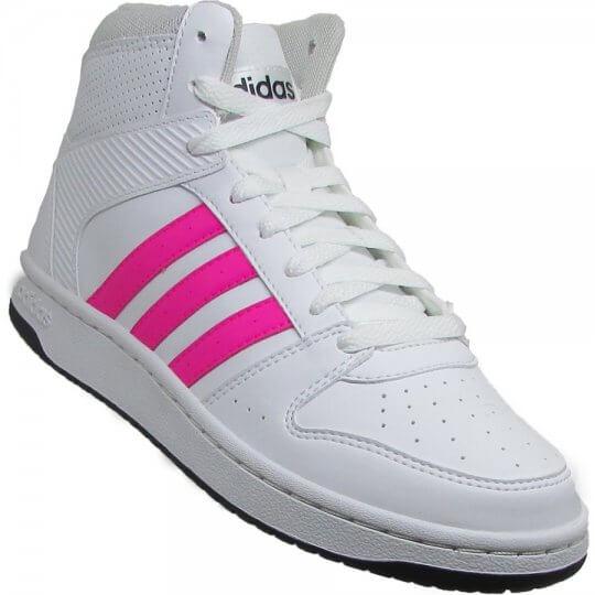 Tênis Adidas VS Hoopster Mid Cano Alto Feminino